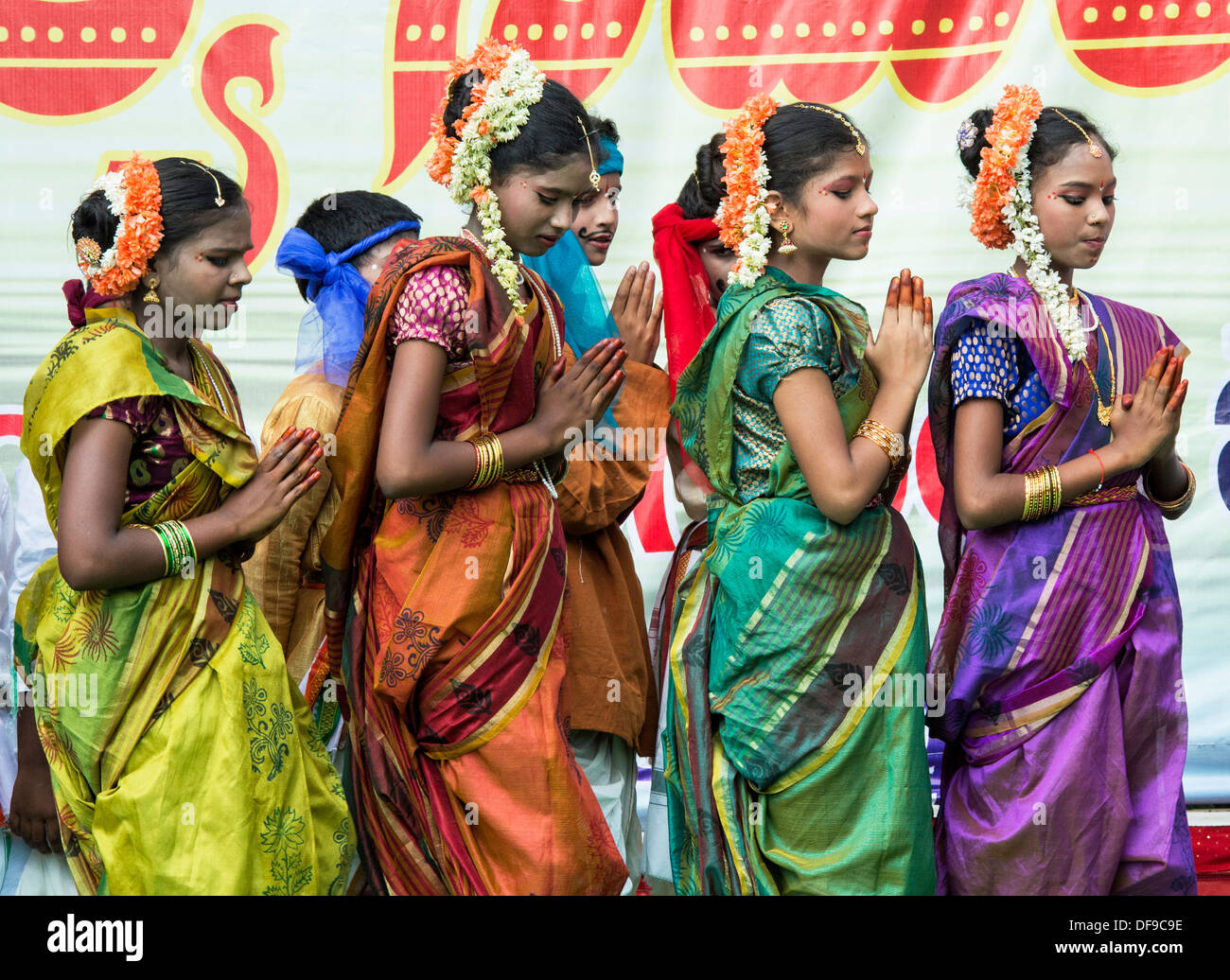 Andhra girls dancing