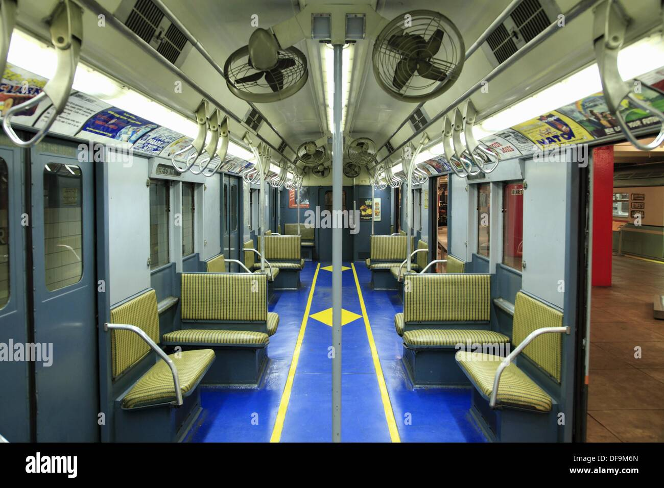 the interior view of new york city subway car from different time stock photo royalty free. Black Bedroom Furniture Sets. Home Design Ideas