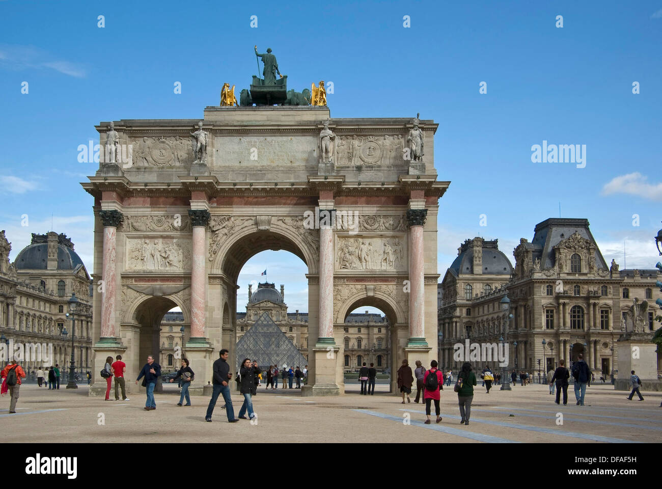 Arc De Triomphe In Paris Commemorating The Military
