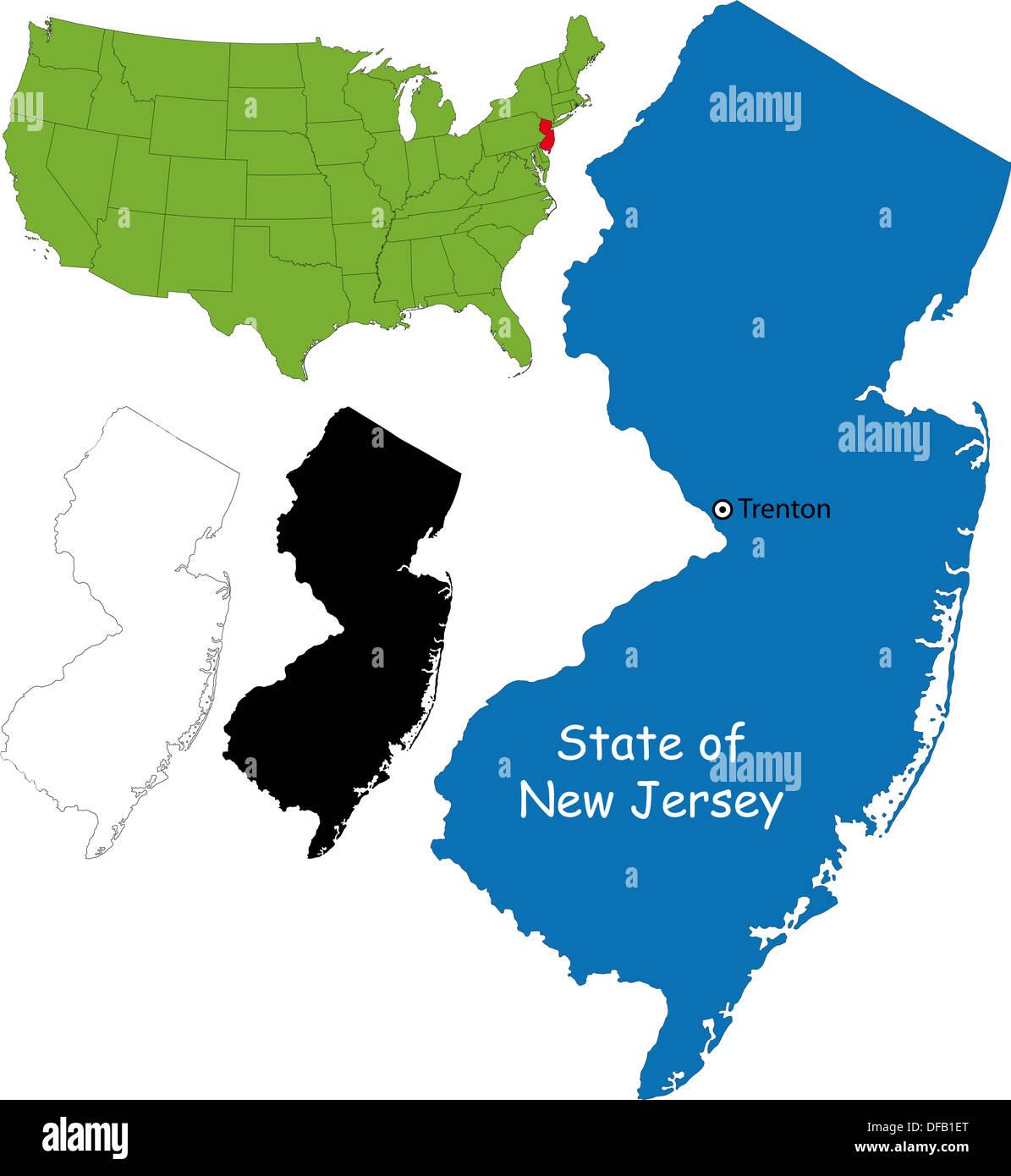 New Jersey Map Stock Photo Royalty Free Image Alamy - Newjerseymap