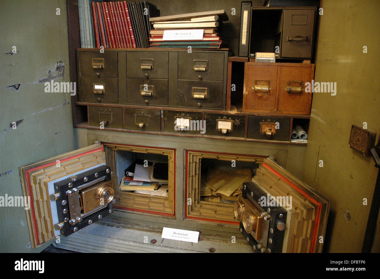 york safe. new york city usa, safe with old documents at the italian american museum in little italy manhattan