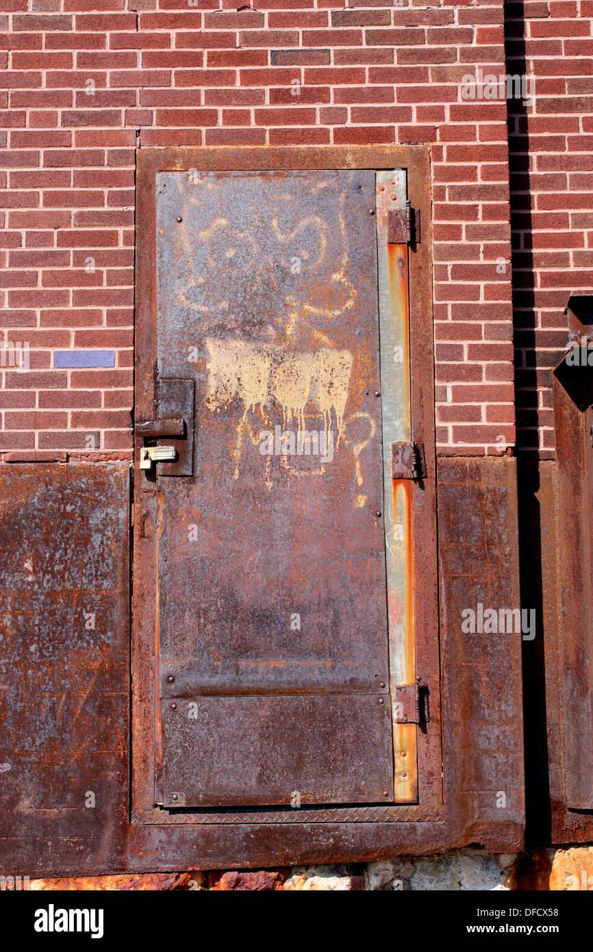 Rusty Metal Door rusted metal door stock photo, royalty free image: 61134900 - alamy