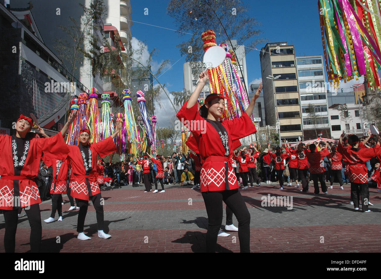sao paulo  brazil   a traditional japanese show at praca da stock photo  royalty free image