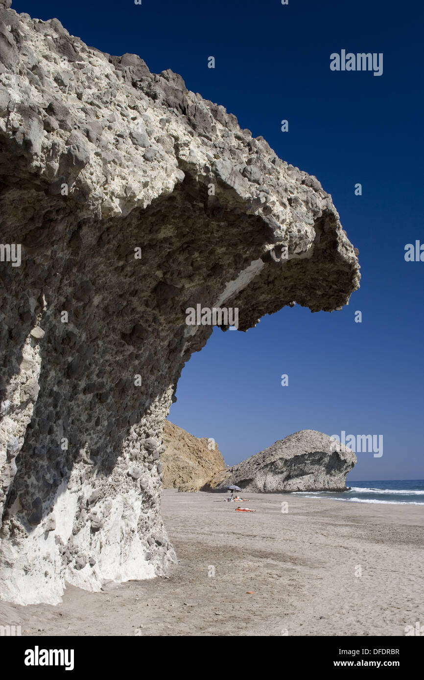San Jose and Monsul beach, Cabo de Gata-Nijar Biosphere Reserve Stock Photo, ...