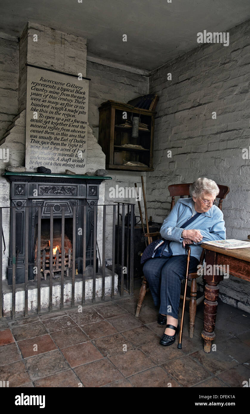 Early 1900 Home Design: Elderly Woman In A Preserved 1800's/early 1900's Cottage