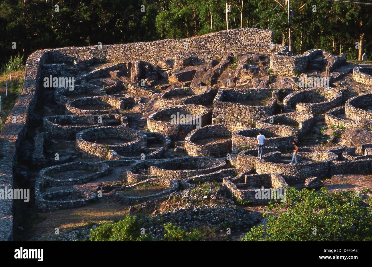 Castro de Santa Tecla. Celtic ruins. Pontevedra province ...