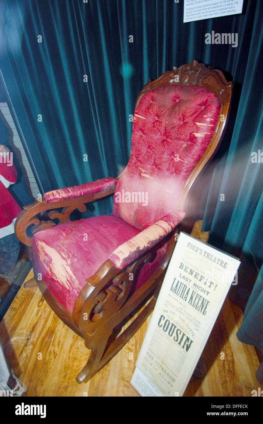 Abraham Lincoln Assassination Rocking Chair Henry Ford Museum