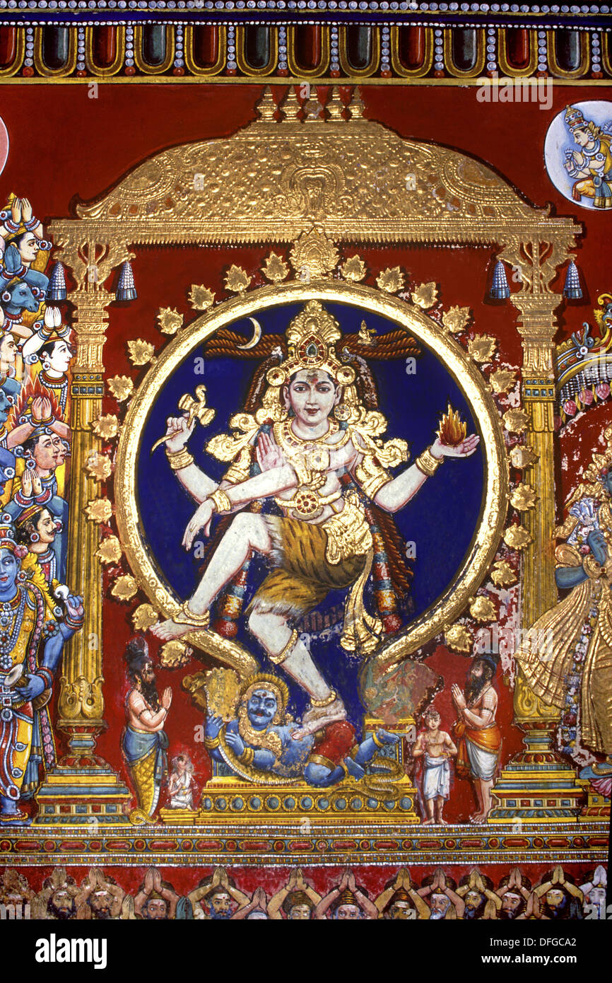 Mural lord nataraja figure of shiva the cosmic dancer for Figure 8 mural