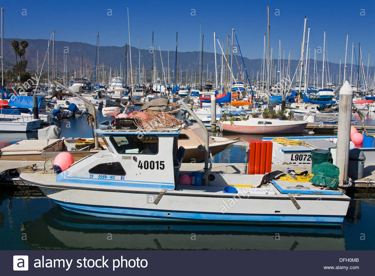 Commercial Fishing Boats Santa Barbara Harbor California