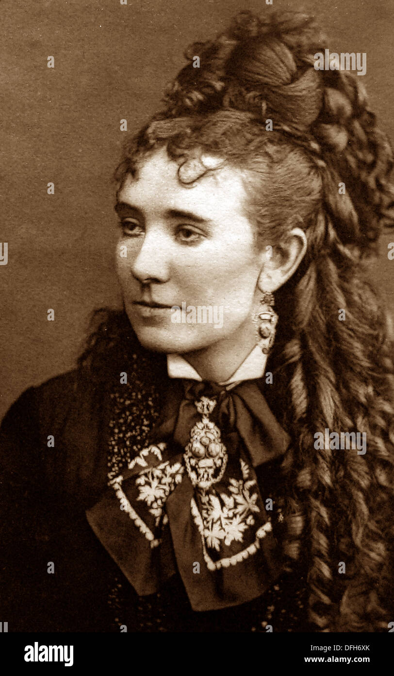 ada ward actress and singer victorian period stock photo