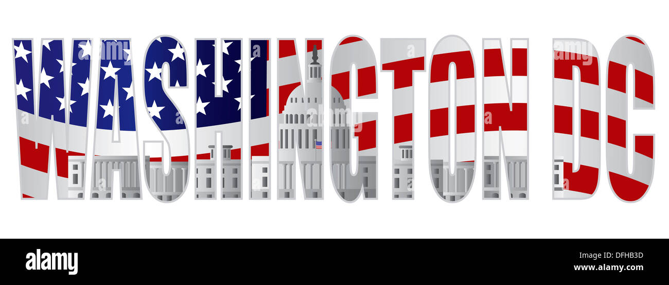 Washington dc text outline silhouette with us capitol for Find me a builder