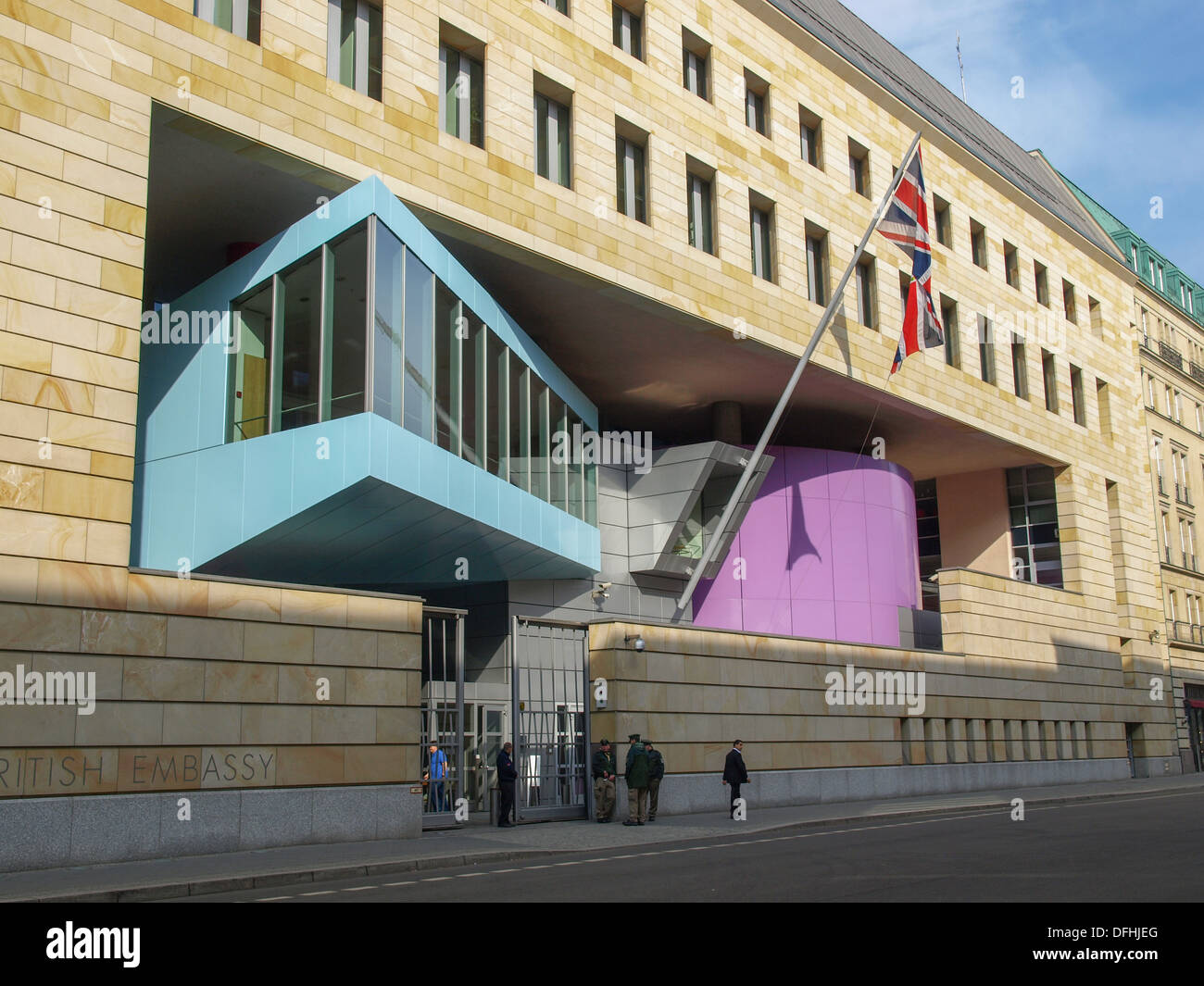 the british embassy in berlin by sir james stirling. Black Bedroom Furniture Sets. Home Design Ideas