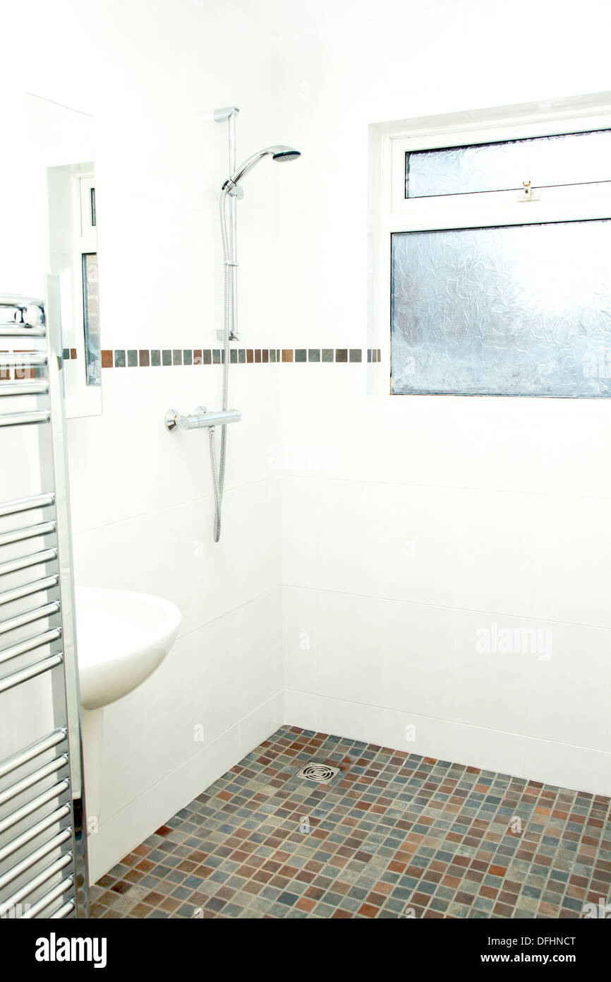 A specially adapted wet room shower bathroom with non slip tiles a specially adapted wet room shower bathroom with non slip tiles used for the flooring suitable for disabled people doublecrazyfo Image collections