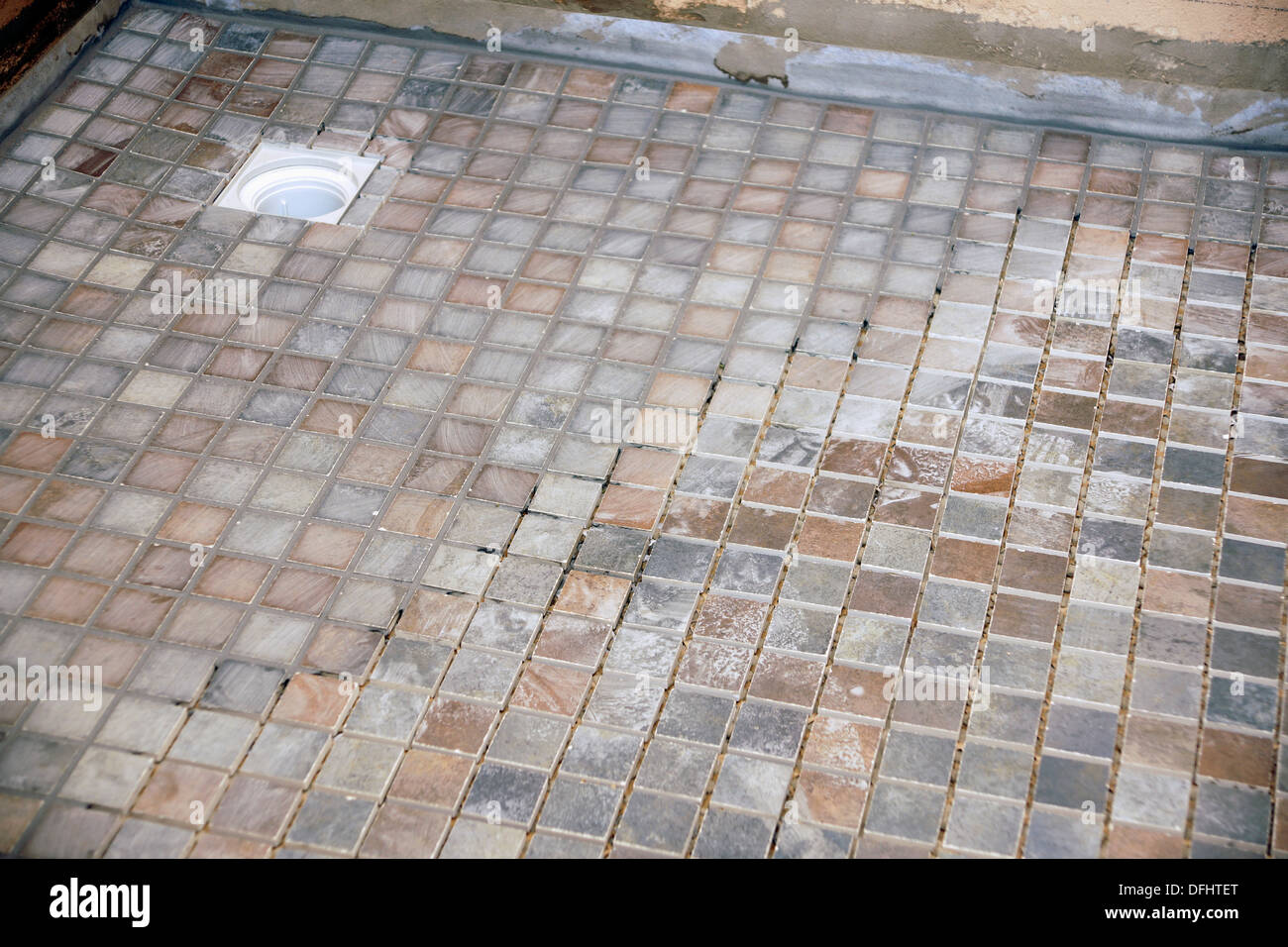 Non Slip Tiles Used For The Flooring In A Wet Room Shower Bathroom Stock Photo Royalty Free