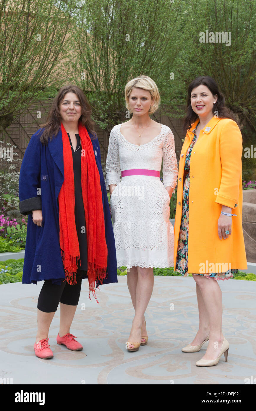Actress Emilia Fox With Kirsty Allsop And Garden Designer At Chelsea Flower  Show