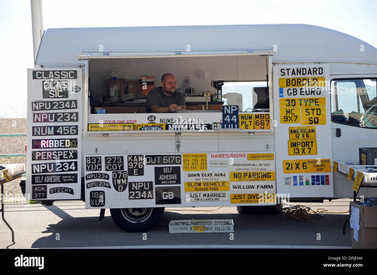 Vehicle registration number plates for sale at the annual London ...
