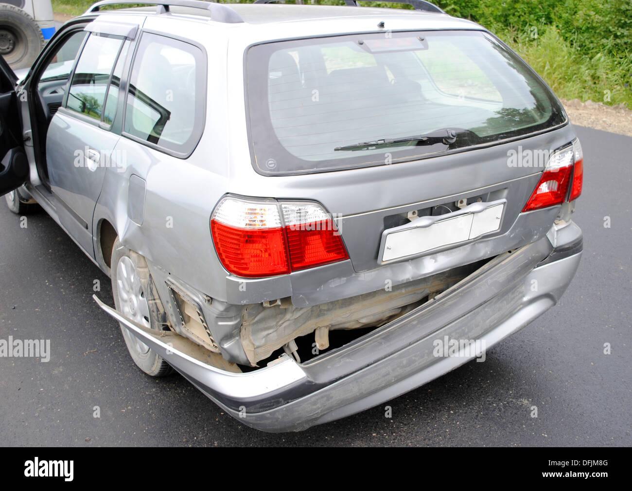 Design of a car bumper - Back Bumper Of The Car After A Car Accident