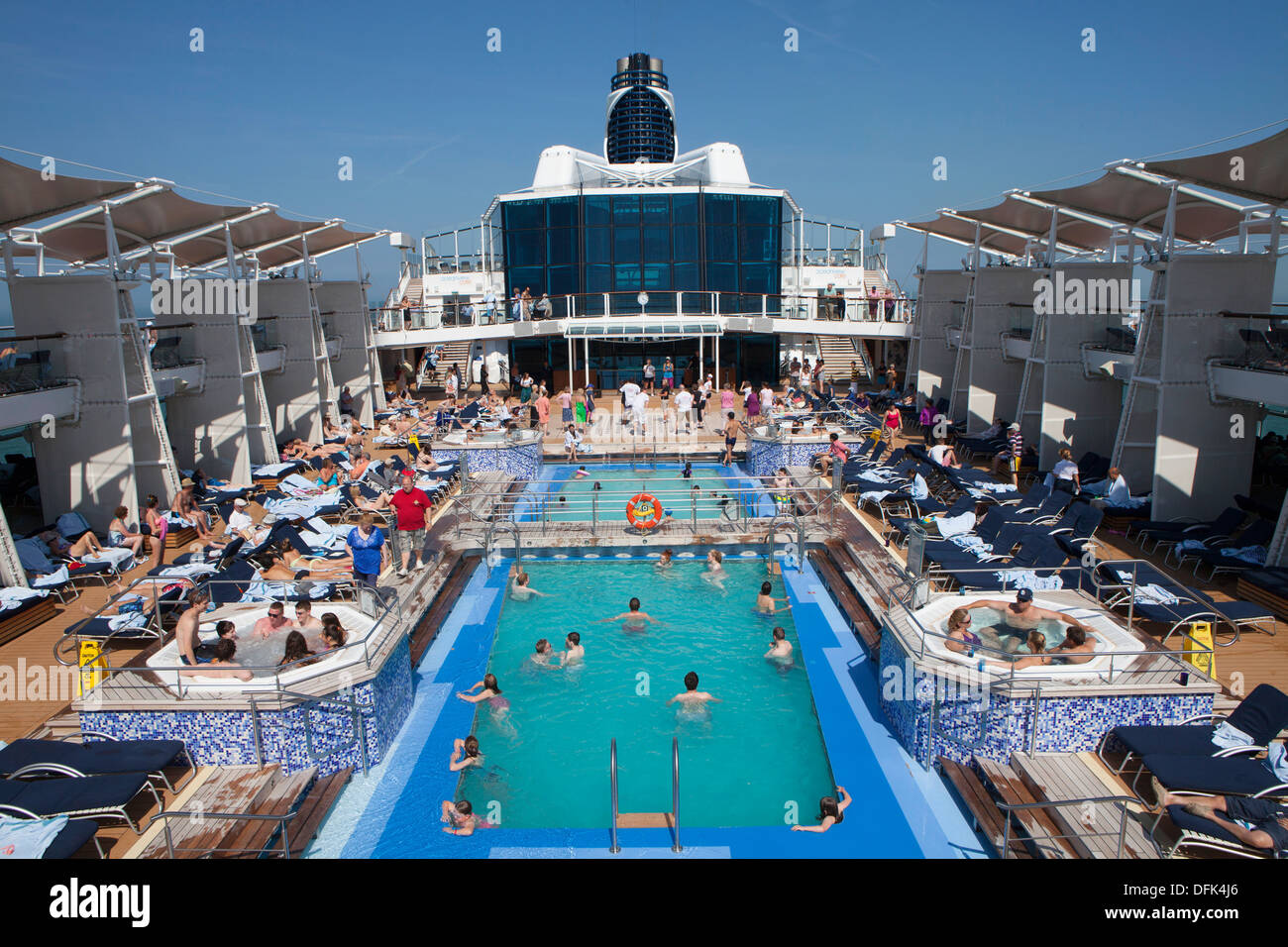 Swimming Pool On Board Detail Of The Celebrity Eclipse A