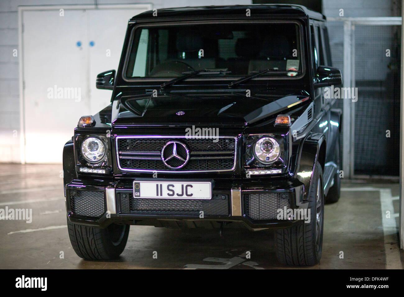 A Black Mercedes Benz G Class G Wagen Four Wheel Drive