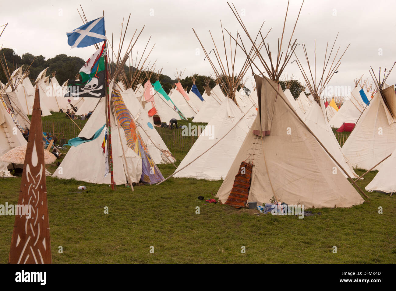 Tipi or Teepee field at the Glastonbury Festival 2013 Somerset England United Kingdom & Tipi or Teepee field at the Glastonbury Festival 2013 Somerset ...