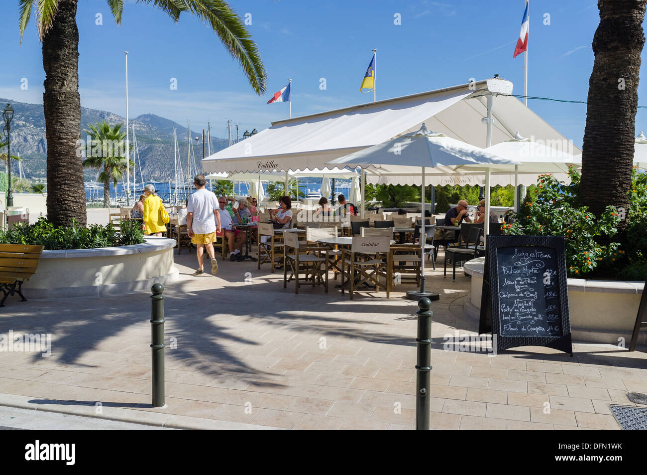 Cadillac Restaurant In St-jean-cap-ferrat Stock Photo, Royalty Free