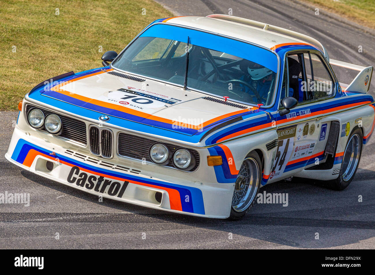 1975 Bmw 3 0 Csl Batmobile With Driver Alex Elliott At The 2013 Stock Photo Royalty Free