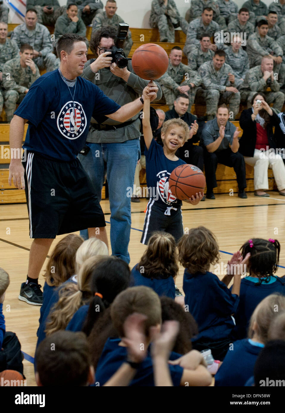 NBA legend Lenny Wilkens speaks to Gunfighter children Oct 4