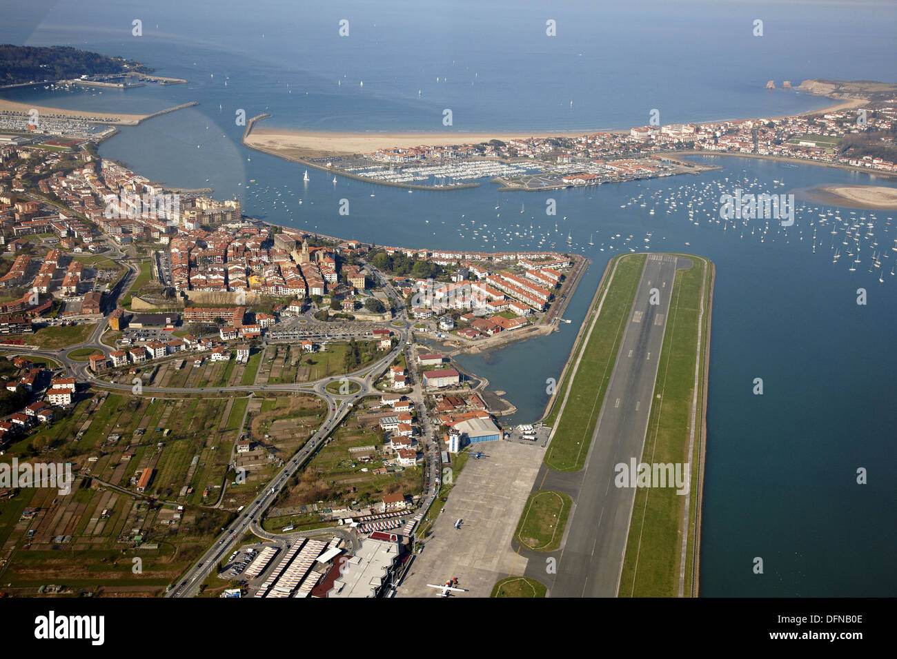 Hondarribia spain left san sebastian airport centre for Hendaye france