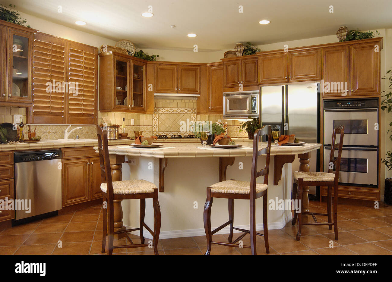 California home mediterranean style kitchen usa stock for California style kitchen