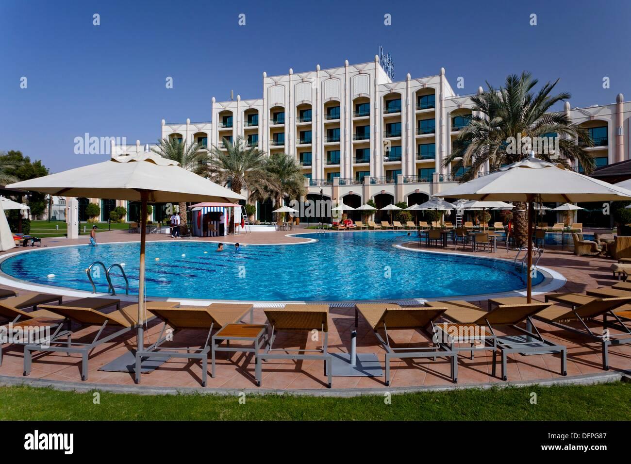 Swimming Pool Area Of The Rotana Resort Hotel In Al Ain Abu Dhabi Stock Photo Royalty Free