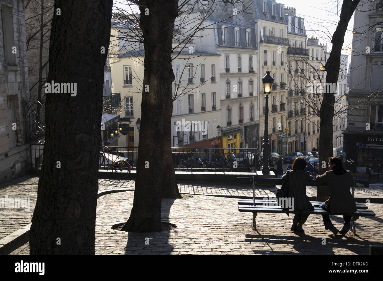 street view of montmartre paris france stock photo royalty free image 61357953 alamy. Black Bedroom Furniture Sets. Home Design Ideas