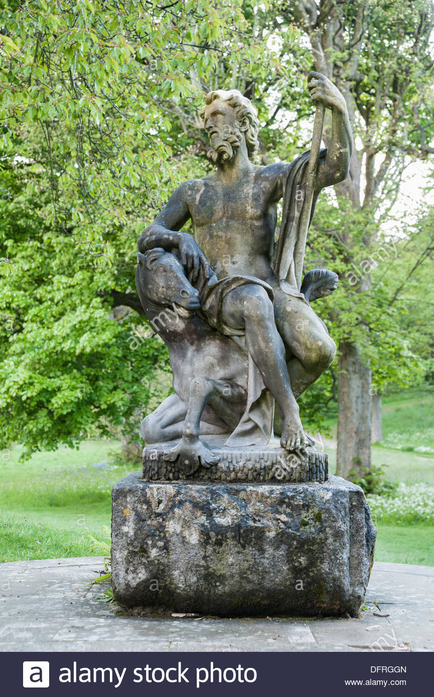 god neptune stock photos god neptune stock images alamy c17th italian marble statue of neptune sits at the top of the neptune cascade holker