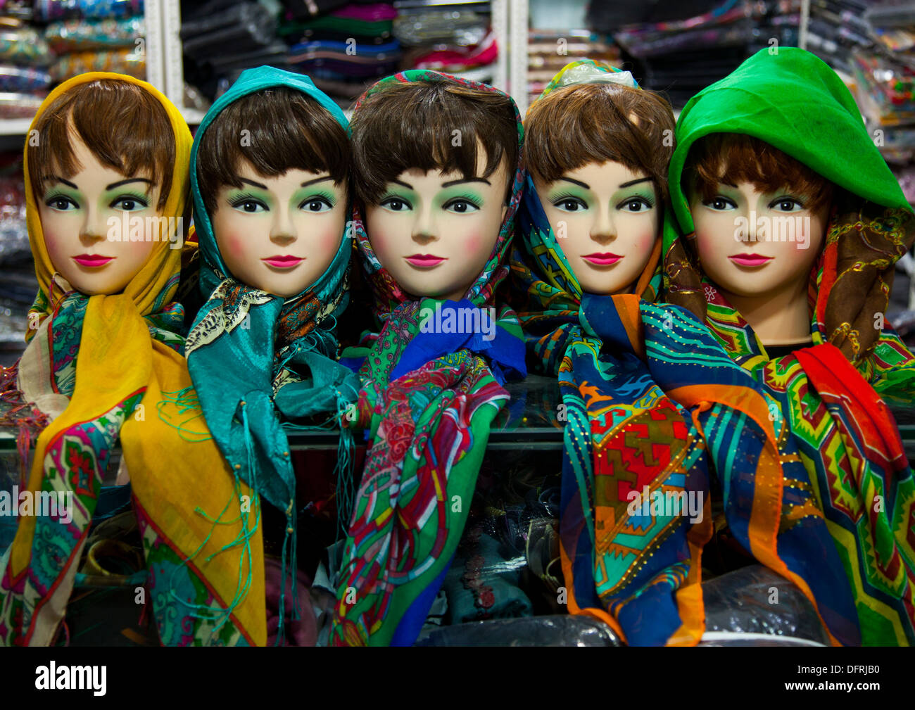 Scarf Shop In The Bazaar, Kermanshah, Iran Stock Photo, Royalty ...