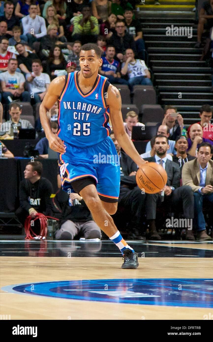 08th Oct 2013 Oklahoma City Thunder Swingman Thabo Sefolosha During The NBA Basketball Game Between And Philadelphia 76ers From