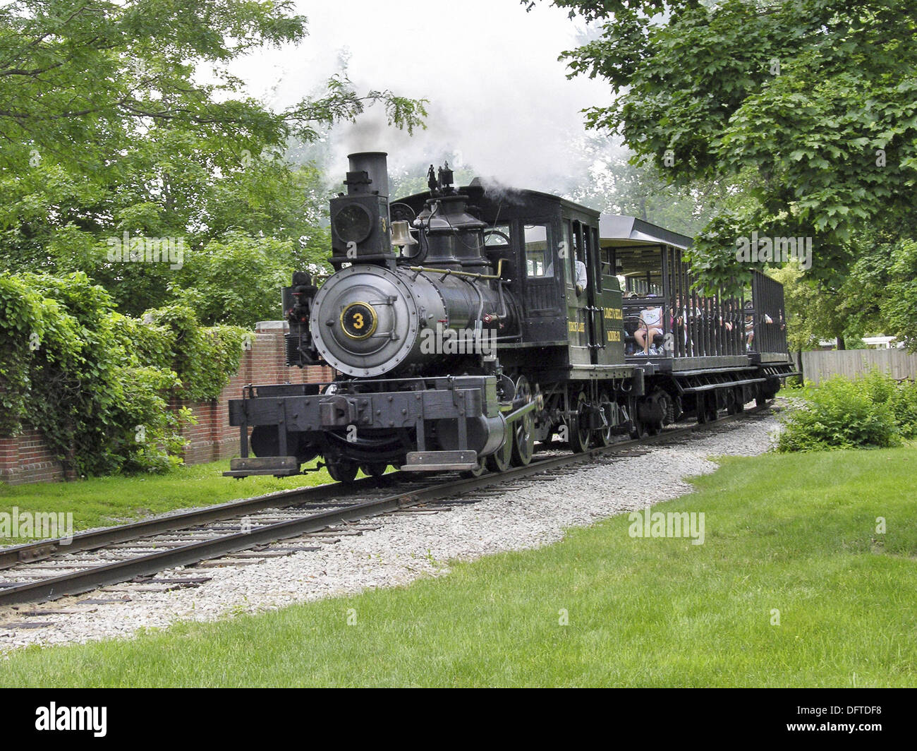 Steam locomotive train at Historic Greenfield Village and Henry