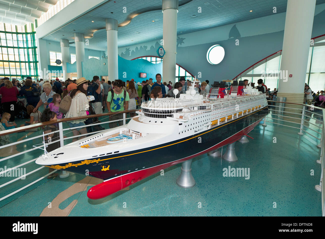 Model Of The New Disney Dream Cruise Ship Disney Cruise Line - The dream cruise ship disney