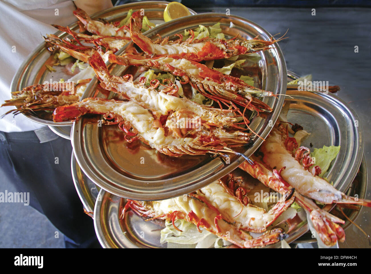 Spain malaga andalusia food grilled carabineros for Andalucia cuisine