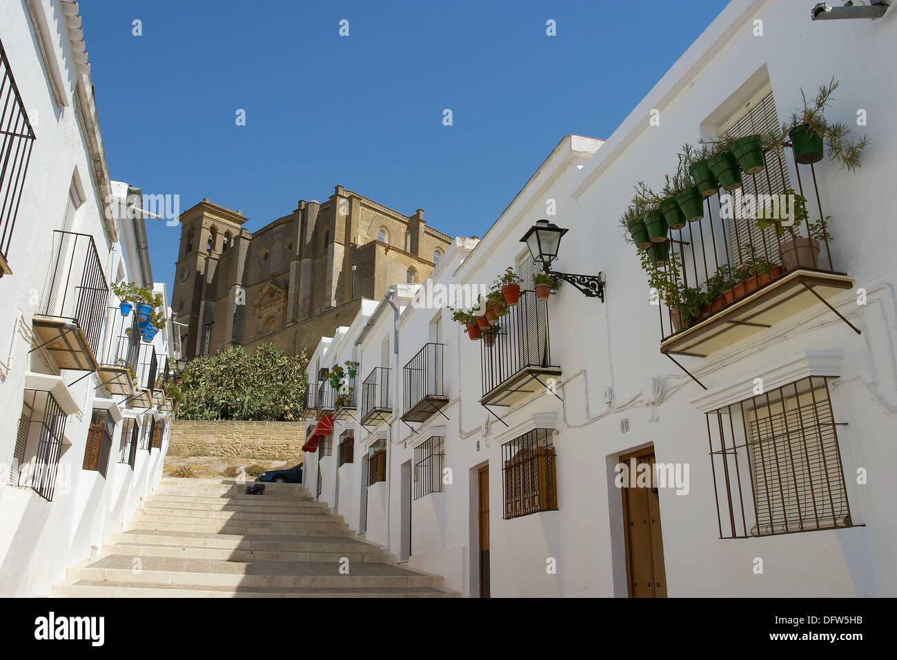 Calle jaretilla and collegiate church in background osuna - Calle correduria sevilla ...