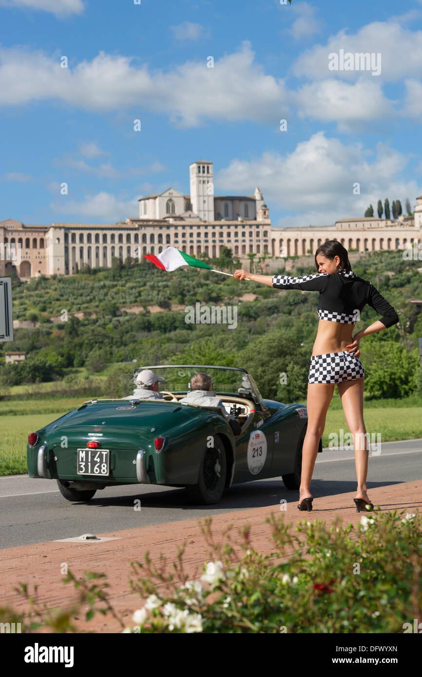 Mille Miglia 1000 Miglia Motor Race Vintage Old Car