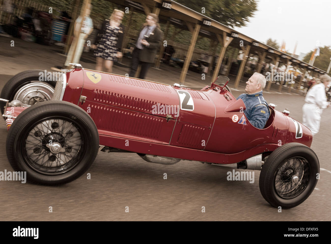 1934 Alfa Romeo Tipo B With Driver Christopher Mann Leave
