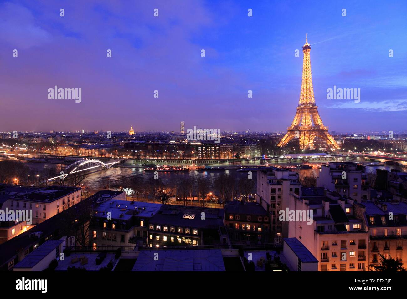 The View Of Eiffel Tower And Cityscape Paris From La Suite Shangri Terrace In Top Hotel