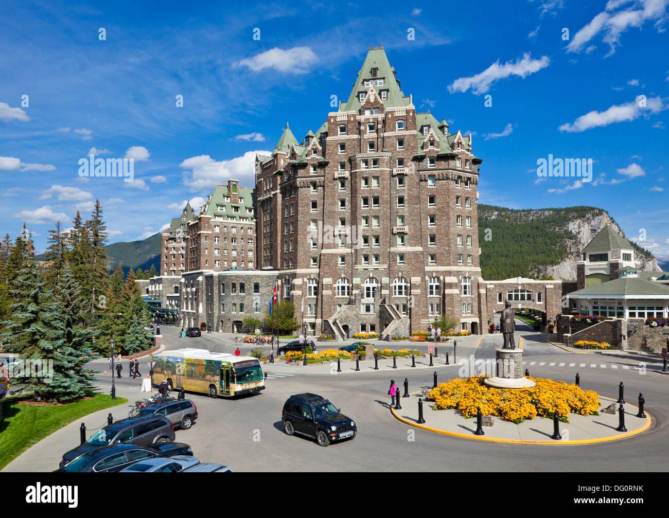 Stock photo the fairmont banff springs hotel banff township banff national park alberta canada canadian rockies