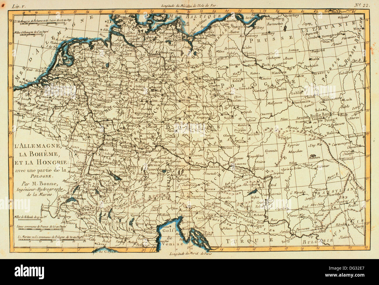 central europe germany bohemia and hungary 18th century map