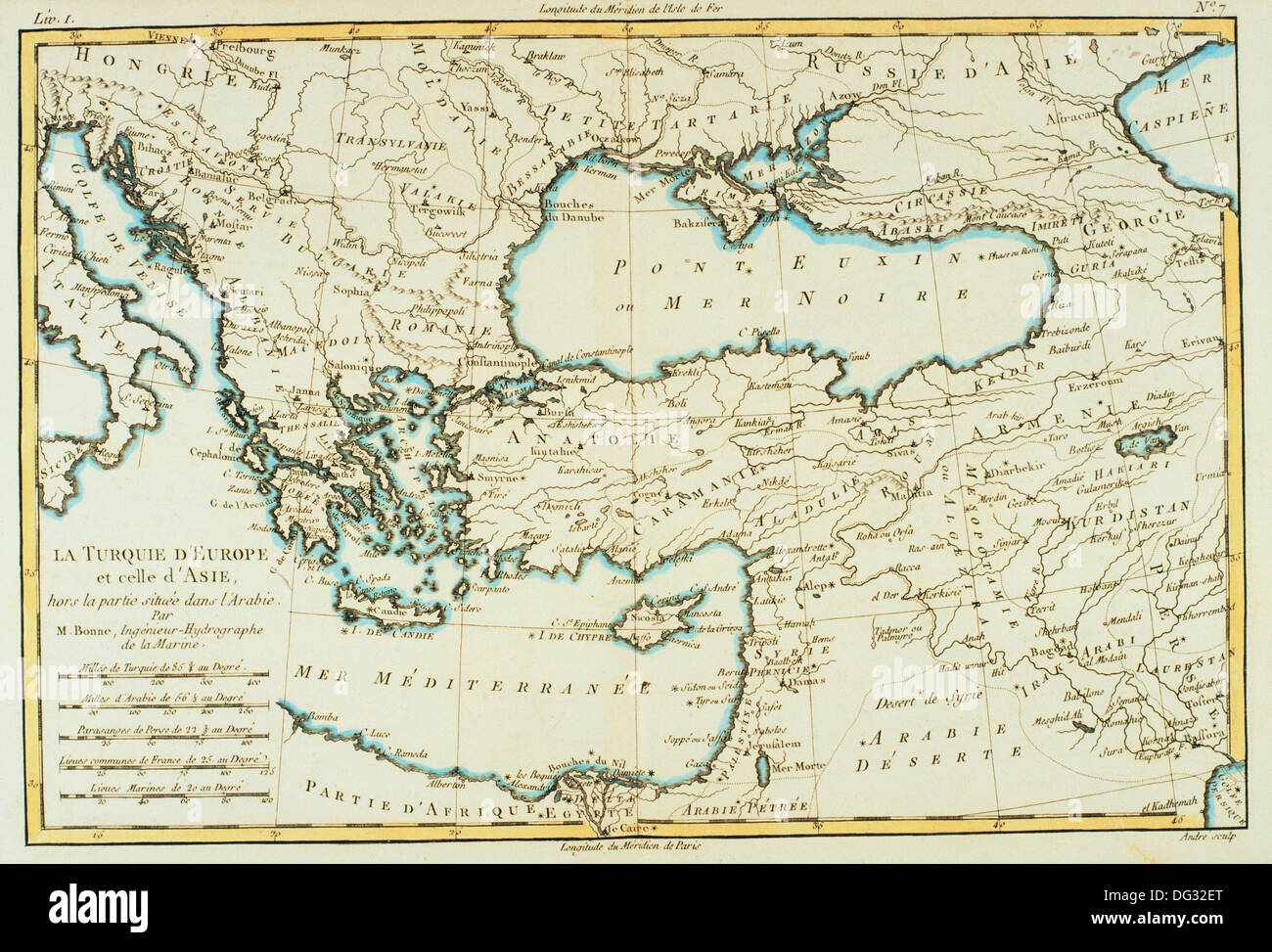 Southern Europe And Asia Minor Th Century Map Stock Photo - Map of southern europe
