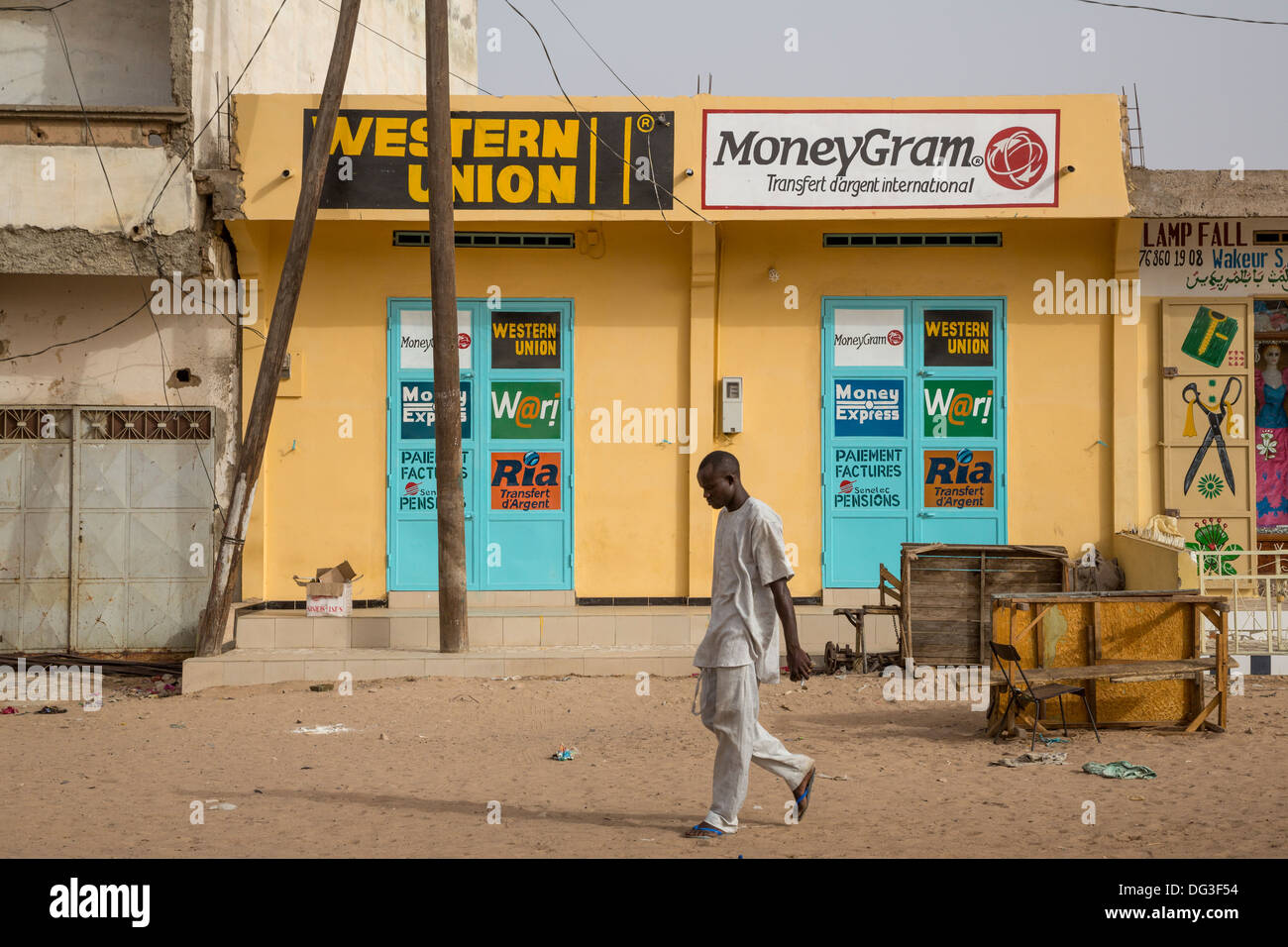 senegal touba western union office money transfer services stock photo royalty free image