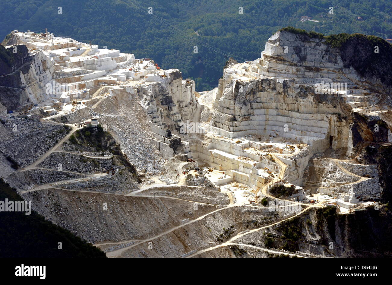 View On A Quarry Of Marble Near Italian Town Of Carrara, On September 12,