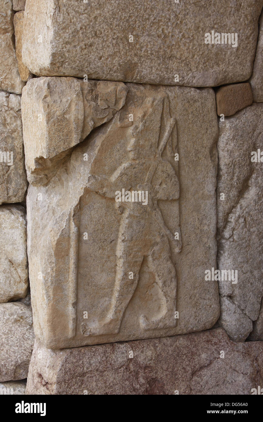 A bas relief stone carving of one the hittite kings