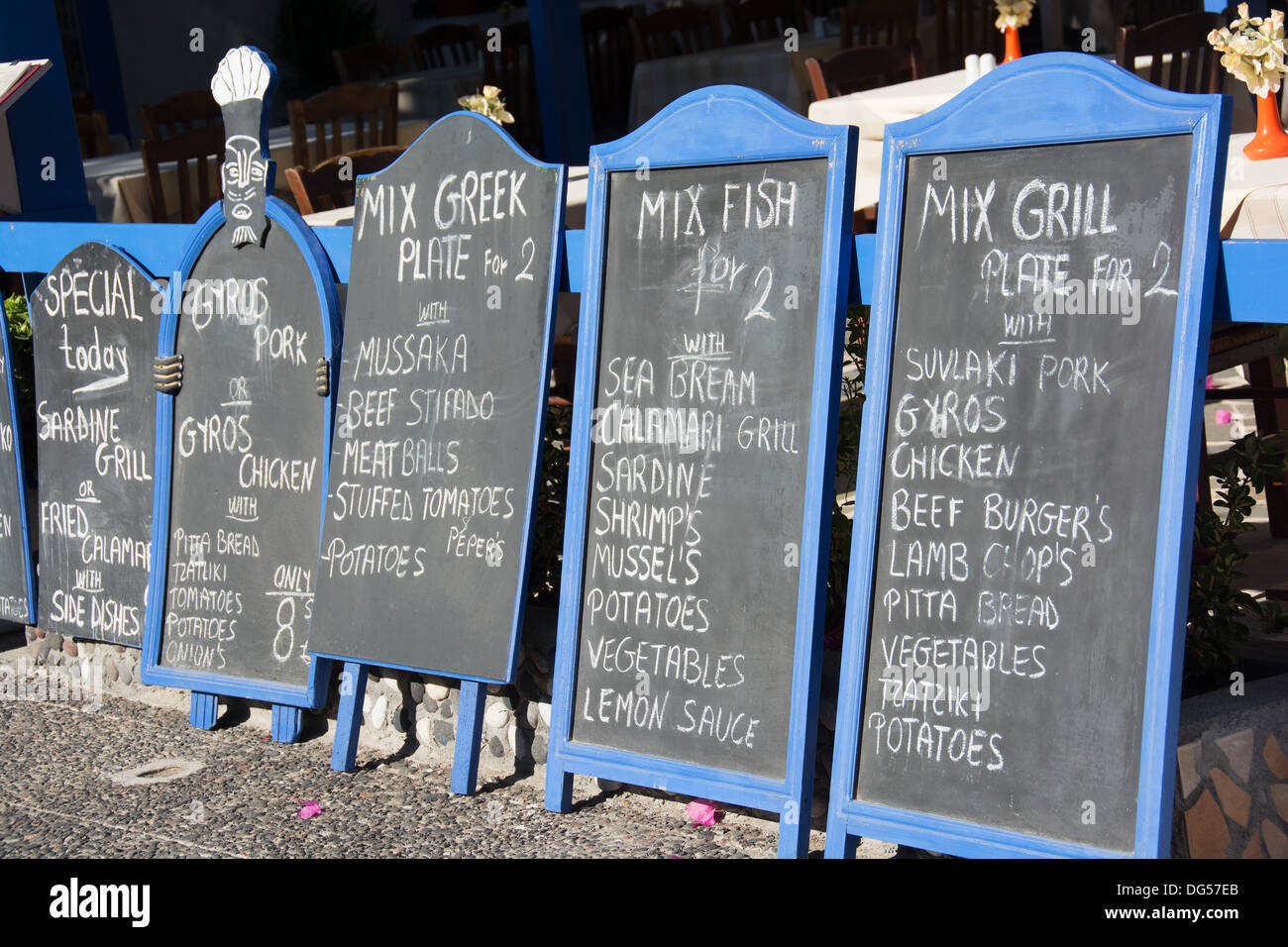 Restaurant Blackboard Menus Stock Photos & Restaurant Blackboard ...