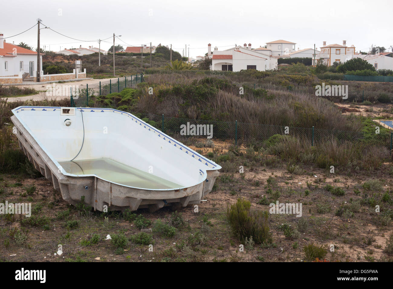 An abandoned swimming pool in valdatelha in portugal stock for Disused swimming pools
