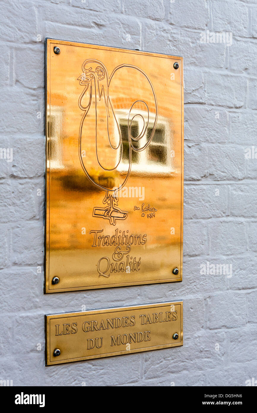 Les grandes tables du monde brass signs outside heston blumenthal 39 s stock photo royalty free - Les grandes tables du monde ...